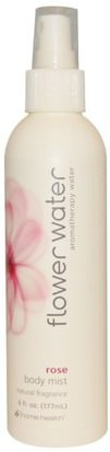 Baño, Belleza, Higiene Personal, Aerosoles De Fragancias Home Health, Flower Water, Body Mist, Rose, 6 fl oz (177 ml)