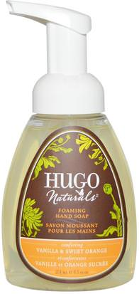 Baño, Belleza, Jabón, Jabón Espumoso Hugo Naturals, Foaming Hand Soap, Vanilla & Sweet Orange, 8.5 fl oz (251 ml)