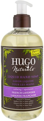 Baño, Belleza, Jabón Hugo Naturals, Liquid Hand Soap, French Lavender, 12 fl oz (355 ml)