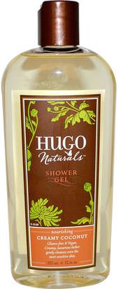 Baño, Belleza, Gel De Ducha Hugo Naturals, Shower Gel, Creamy Coconut, 12 fl oz (355 ml)