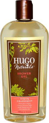 Baño, Belleza, Gel De Ducha Hugo Naturals, Shower Gel, Grapefruit, 12 fl oz (355 ml)