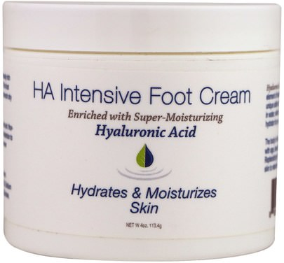 Baño, Belleza, Cremas Pie, Piel Hyalogic LLC, HA Intensive Foot Cream, 4 oz (113.4 g)