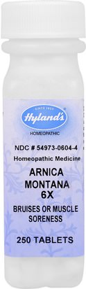 Hierbas, Árnica Montana Hylands, Arnica Montana 6X, Bruises & Muscle Soreness, 250 Tablets