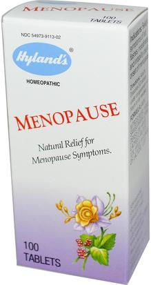Salud, Mujeres, Menopausia, Suplementos, Homeopatía Mujeres Hylands, Menopause, 100 Tablets