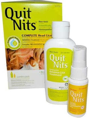 Baño, Belleza, Cabello, Cuero Cabelludo, Salud Hylands, Quit Nits, Complete Head Lice Kit, 4 Piece Kit