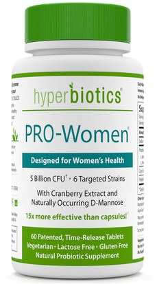 Salud, Mujeres, Probióticos Hyperbiotics, PRO-Women, 5 Billion CFU, 60 Time-Release Tablets