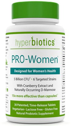 Salud, Mujeres, Suplementos, Probióticos, Probióticos Estabilizados Hyperbiotics, PRO-Women. Designed for Womens Health, 5 Billion CFU, 30 Tablets
