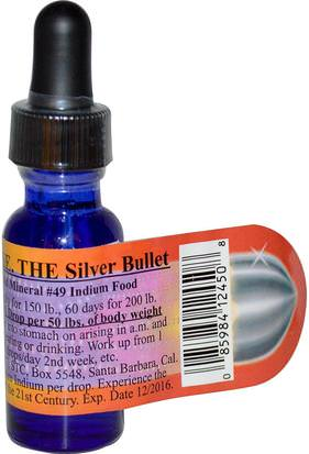 Suplementos, Minerales, Minerales Líquidos Indiumease, The Silver Bullet, Liquid Mineral, 1/2 oz
