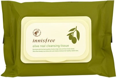 Belleza, Cuidado Facial Innisfree, Olive Real Cleansing Tissue, 30 Sheets, (150 g)