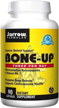 Suplementos, Minerales, Calcio, Salud, Osteoporosis Jarrow Formulas, Bone-Up, Three Per Day, 90 Capsules