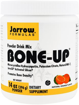 Salud, Hueso, Osteoporosis Jarrow Formulas, Bone-Up Powder Drink Mix, Natural Orange Flavor, 14 oz (396 g)
