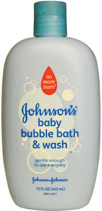 Baño, Belleza, Baño De Burbujas Johnsons Baby, Baby Bubble Bath & Wash, 15 fl oz (443 ml)