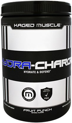 Deportes, Músculo Kaged Muscle, Hydra-Charge, Fruit Punch, 9.95 oz (282 g)