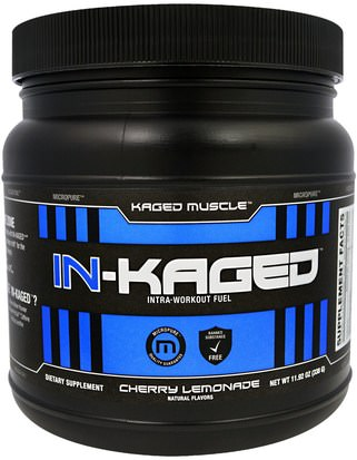 Deportes, Músculo Kaged Muscle, In-Kaged Intra-Workout Fuel, Cherry Lemonade, 11.92 oz (338 g)