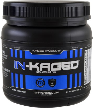 Deportes, Entrenamiento Kaged Muscle, In-Kaged Intra-Workout Fuel, Watermelon, 11.97 oz (339 g)