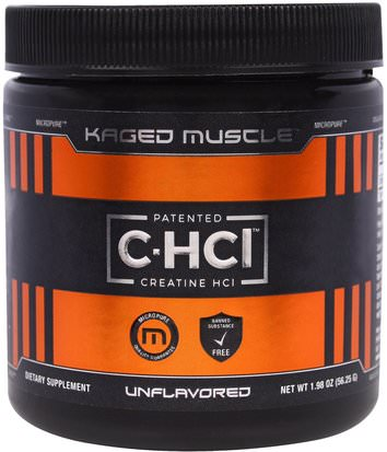 Deportes, Creatina, Músculo Kaged Muscle, Patented C-HCI, Creatine HCI, Unflavored, 1.98 oz (56.25 g)