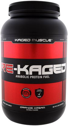 Deportes, Entrenamiento, Músculo Kaged Muscle, Re-Kaged, Anabolic Protein Fuel, Orange Kream, 2.06 lbs (936 g)
