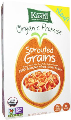 Comida, Comida, Cereal Kashi, Organic, Sprouted Grains, Cereal, 9.5 oz (269 g)