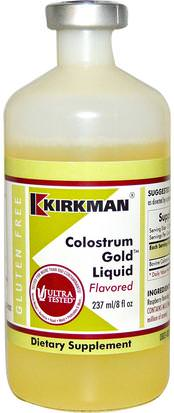 Suplementos, Productos Bovinos, Calostro, Salud Kirkman Labs, Colostrum Gold Liquid, Flavored, 8 fl oz (237 ml)