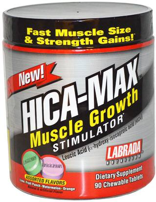 Deportes, Músculo Labrada Nutrition, HICA-Max, Muscle Growth Stimulator, Assorted Flavors, 90 Chewable Tablets