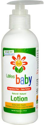 Baño, Belleza, Loción Corporal, Baño De Niños Lafes Natural Body Care, Baby, Natural Lotion, Fragrance-Free, 6 oz (177 ml)