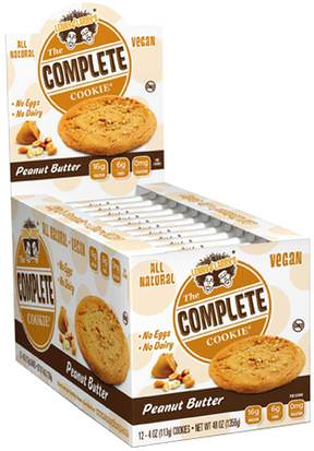 Deportes, Barras De Proteína Lenny & Larrys, The Complete Cookie, Peanut Butter, 12 Cookies, 4 oz (113 g) Each
