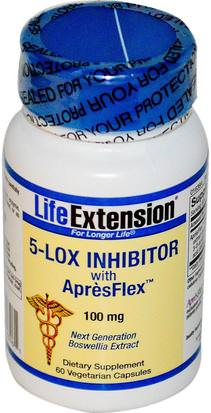 Salud, Mujeres, Boswellia Life Extension, 5-Lox Inhibitor, with ApresFlex, 100 mg, 60 Veggie Caps