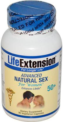 Salud, Mujeres Life Extension, Advanced Natural Sex, For Women, 50+, 90 Veggie Caps
