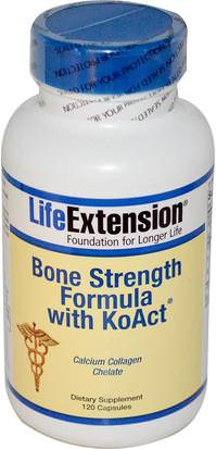 Suplementos, Minerales, Hueso, Osteoporosis Life Extension, Bone Strength Formula With KoAct, 120 Capsules