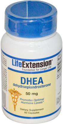Suplementos, Dhea, Salud Life Extension, DHEA, 50 mg, 60 Capsules