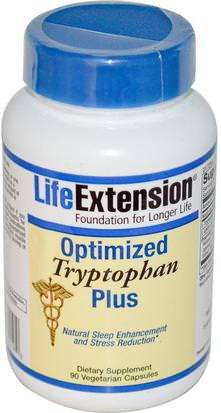 Suplementos, L Triptófano, Salud, Anti Estrés Life Extension, Optimized Tryptophan Plus, 90 Veggie Caps