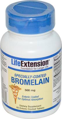 Suplementos, Enzimas, Bromelina, Salud Life Extension, Specially-Coated Bromelain, 500 mg, 60 Enteric Coated Tablets