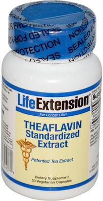 Suplementos, L Theanine, Salud Life Extension, Theaflavin Standardized Extract, 30 Veggie Caps