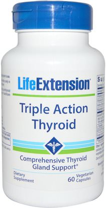 Salud, Tiroides Life Extension, Triple Action Thyroid, 60 Veggie Caps