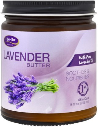 Salud, Piel Life Flo Health, Lavender Butter, with Pure Lavender Oil, 9 fl oz (266 ml)