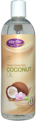 Baño, Belleza, Piel De Aceite De Coco Life Flo Health, Skin Care, Fractionated Coconut Oil, 16 fl oz (473 ml)