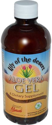 Baño, Belleza, Gel De Crema De Loción De Aloe Vera Lily of the Desert, Aloe Vera Gel, Inner Filler, 32 fl oz (946 ml)