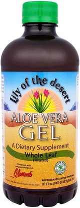 Baño, Belleza, Gel De Crema De Loción De Aloe Vera Lily of the Desert, Aloe Vera Gel, Whole Leaf, 32 fl oz (946 ml)
