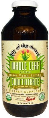 Suplementos, Aloe Vera, Aloe Vera Liquido Lily of the Desert, Aloe Vera Juice, Whole Leaf Concentrate, 16 fl oz (473 ml)