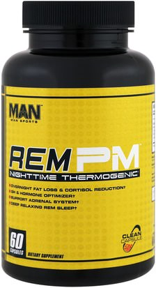 Salud, Energía, Deportes MAN Sport, LLC, Rem PM, Nighttime Thermogenic, 60 Capsules