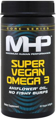 Suplementos, Efa Omega 3 6 9 (Epa Dha), Omega 369 Caps / Tabs, Dha, Epa Maximum Human Performance, LLC, Core Series, Super Vegan Omega 3, 90 Veggie Softgels