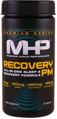 Deportes, Suplementos Maximum Human Performance, LLC, Recovery PM, 90 Capsules