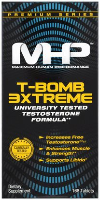 Salud, Hombres, Testosterona Maximum Human Performance, LLC, T-Bomb 3xtreme, 168 Tablets