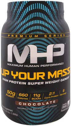 Deportes, Deporte Maximum Human Performance, LLC, Up Your Mass, High Protein Super Weight Gainer, Chocolate, 2.35 lbs (1,068 g)