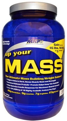 Deportes, Deporte, Proteína Maximum Human Performance, LLC, Up Your Mass, Vanilla, 1.91 lbs (862 g)