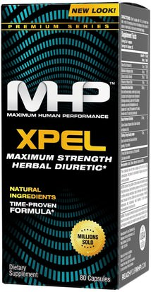 Suplementos, Pastillas Diuréticas Para El Agua, Pérdida De Peso, Dieta Maximum Human Performance, LLC, Xpel, Maximum Strength Diuretic, 80 Capsules