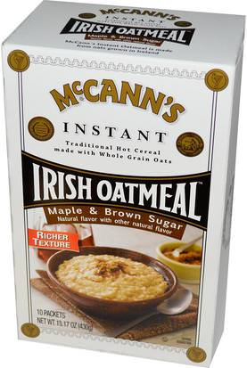 Comida, Comida, Cereal McCanns Irish Oatmeal, Instant Oatmeal, Maple & Brown Sugar, 10 Packets, 43 g Each
