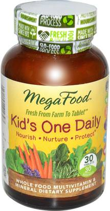 Vitaminas, Multivitaminas, Niños Multivitaminas MegaFood, Kids One Daily, 30 Tablets