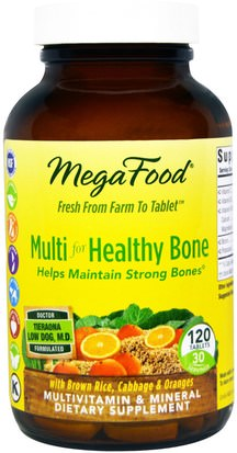 Vitaminas, Multivitaminas, Hueso, Osteoporosis MegaFood, Multi for Healthy Bone, 120 Tablets