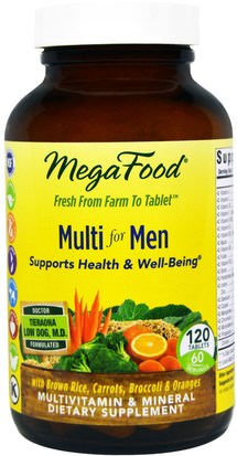 Vitaminas, Hombres, Multivitaminas MegaFood, Multi for Men, 120 Tablets